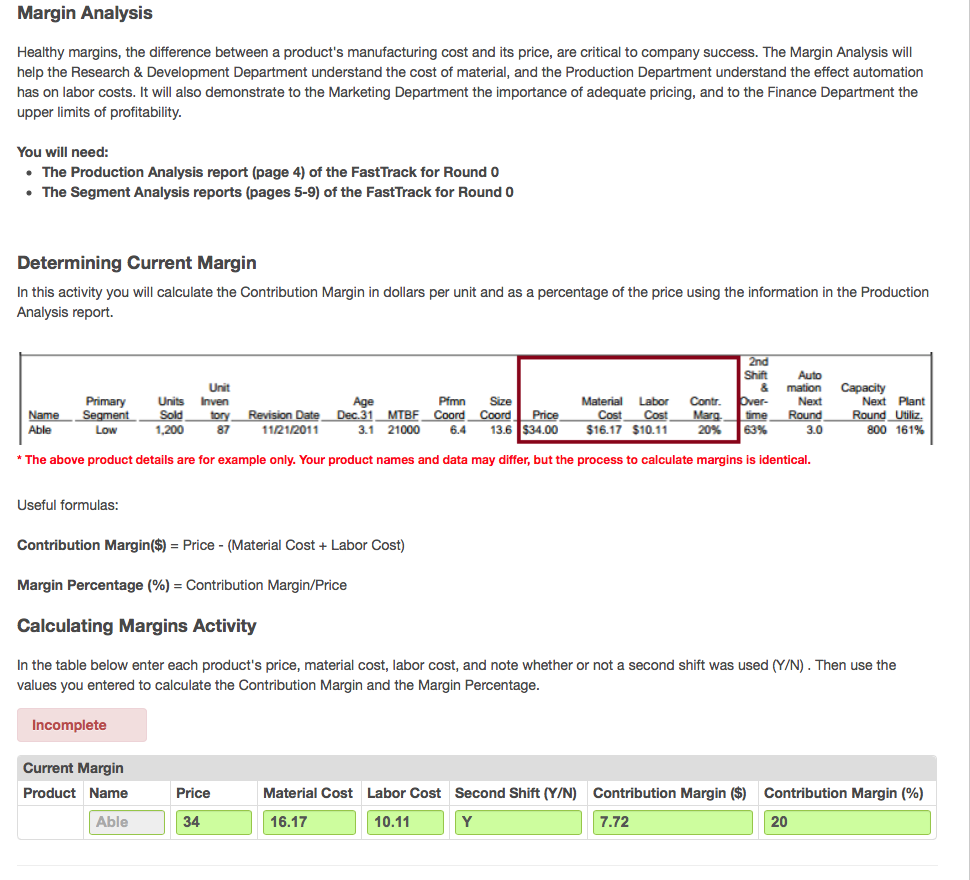 Margin Pricing: Solved: Margin Analysis Healthy Margins, The Difference Be