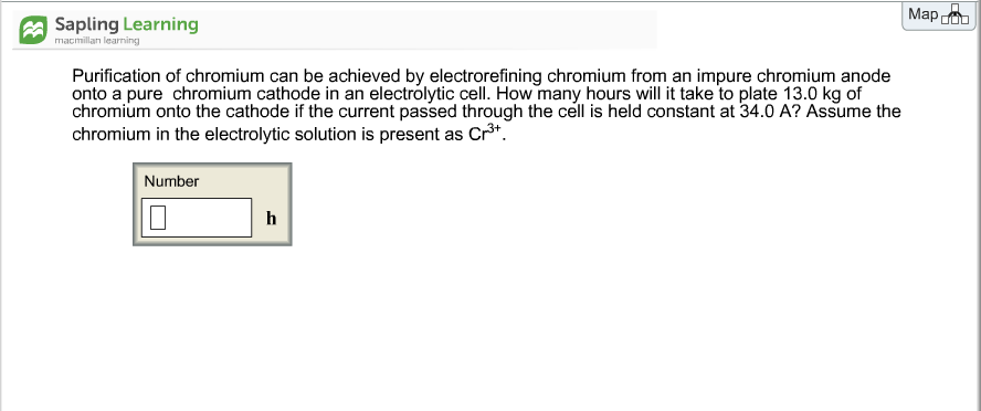 Solved Purification Of Chromium Can Be Achieved By Electr