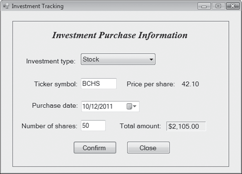 investment tracking create an application that tra chegg com