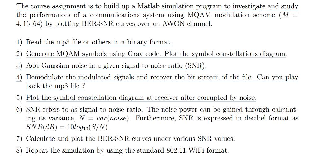 Sample Codes I : M-QAM %QAM Simulation Clear All