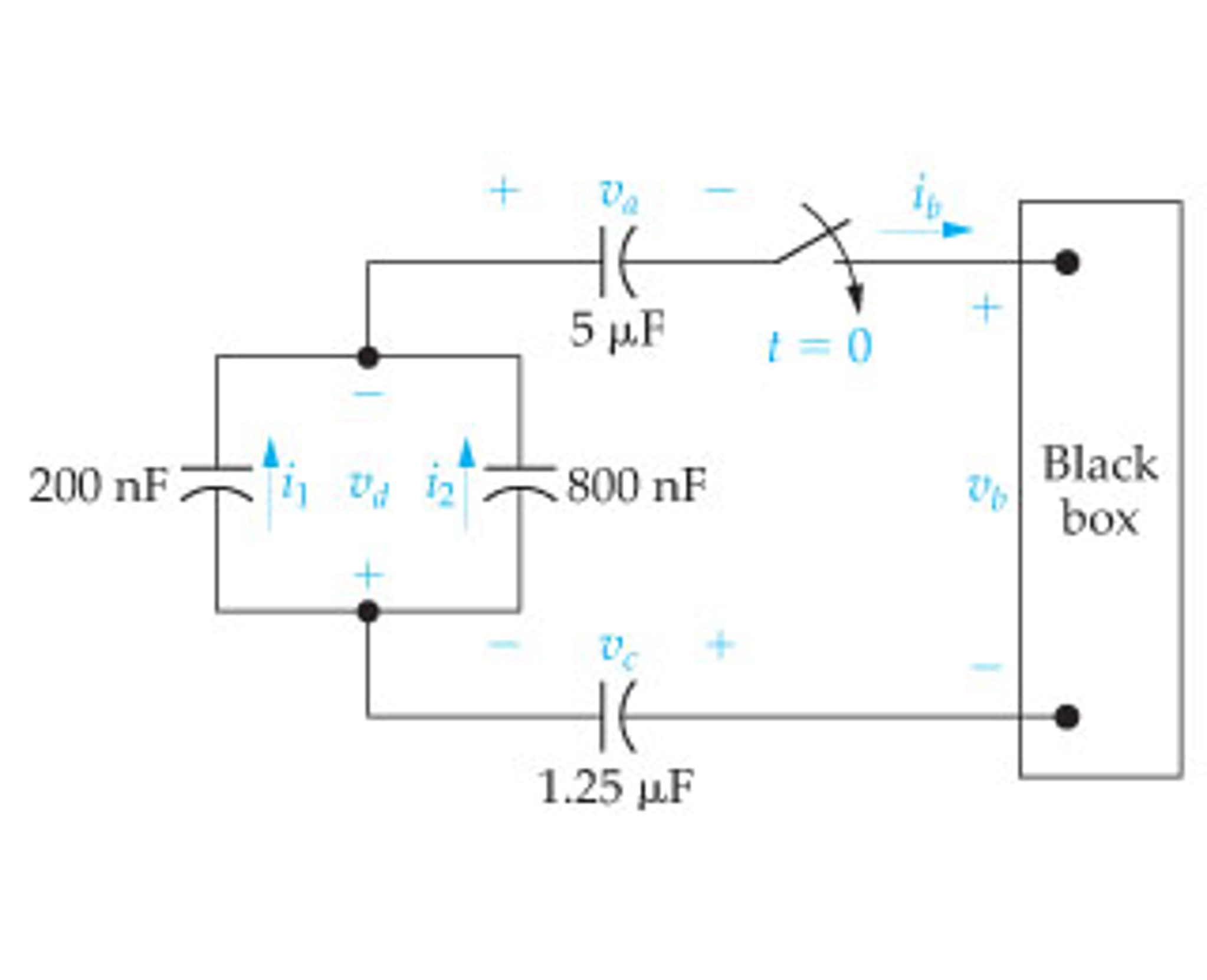 Solved The Four Capacitors In Circuit Figure A Black Box Diagram
