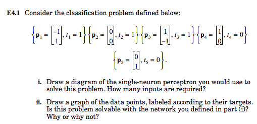 Solved e41 consider the classification problem defined b e41 consider the classification problem defined below 1 0 0 0 i ccuart Gallery