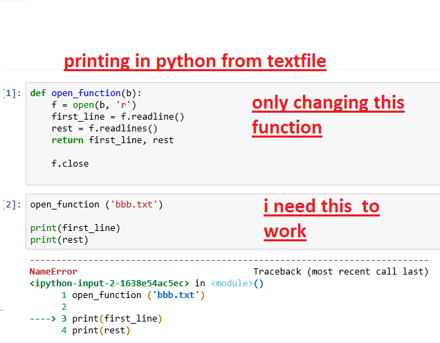 Solved: Rinting In Python From Textfile 1] Def Open_functi