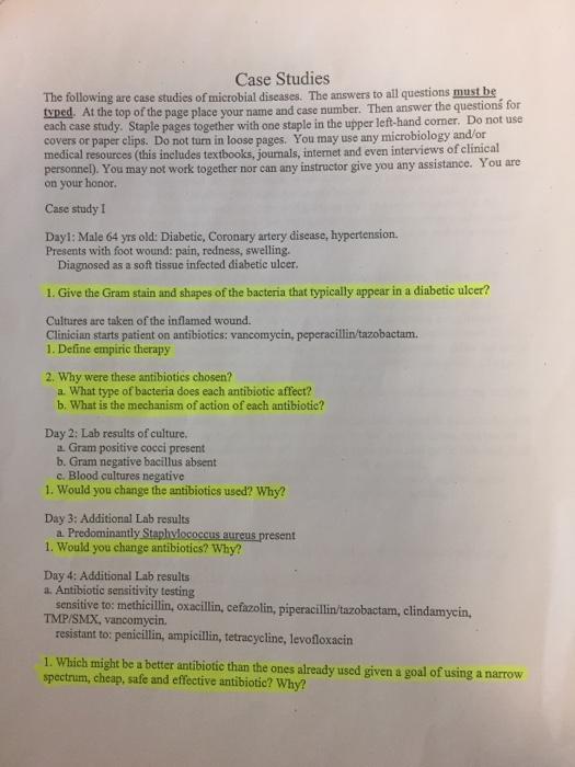 Microbiology case study help