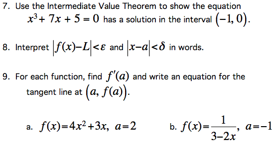 Solved Use The Intermediate Value Theorem To Show The Equ