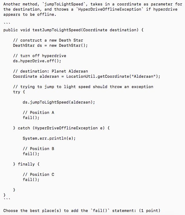 Solved: This Test Is A Junit Test  My Thought Is Position