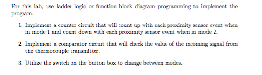 Solved: For This Lab, Use Ladder Logic Or Function Block D