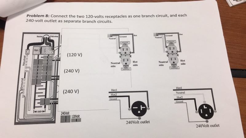 Connect The Two 120-volts Receptacles As One Branc...   Chegg.com