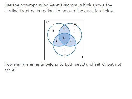 solved  use the accompanying venn diagram  which shows the