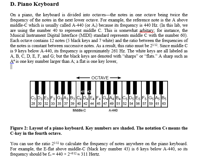D  Piano Kevboard The Keyboard Is Divided Into Oct