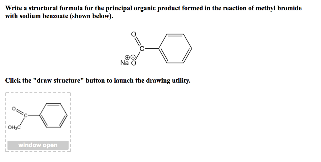 Solved: Write A Structural Formula For The Principal Organ ...  Methyl Benzoate Structural Formula