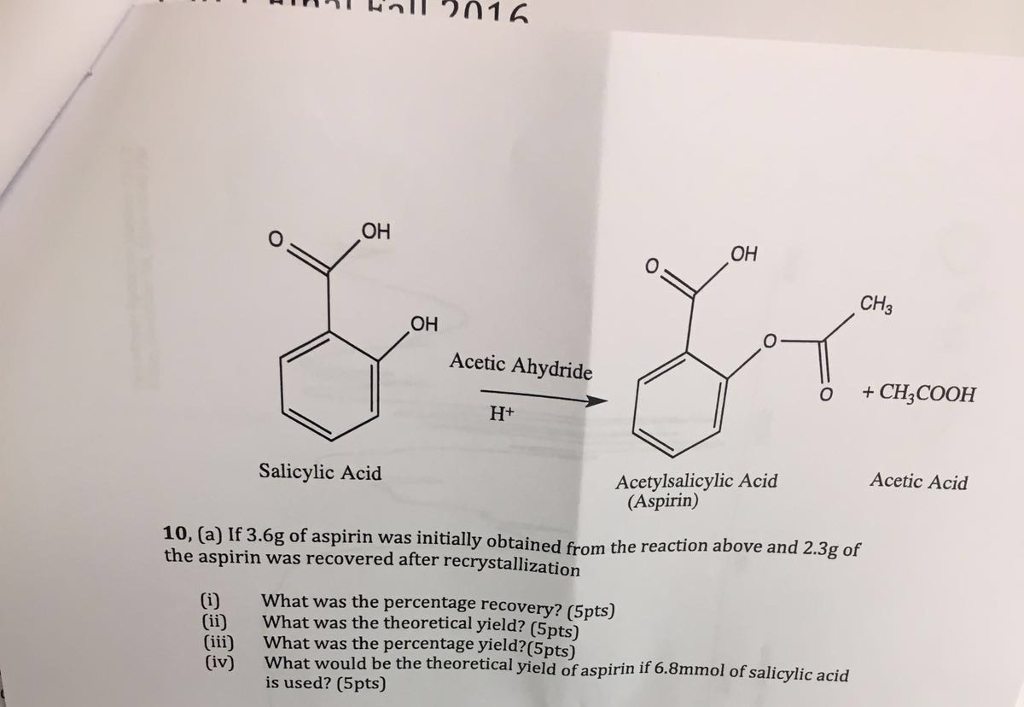 preparation and recrystallisation of aspirin essay 1synopsis the objective of this experiment is to learn to re-crystallise aspirin and to prepare aspirin to find out the purity of aspirin obtain by recry.
