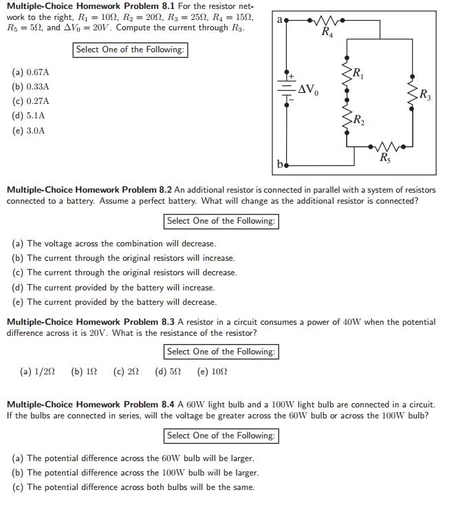 solved multiple choice homework problem 8 1 for the resis rh chegg com