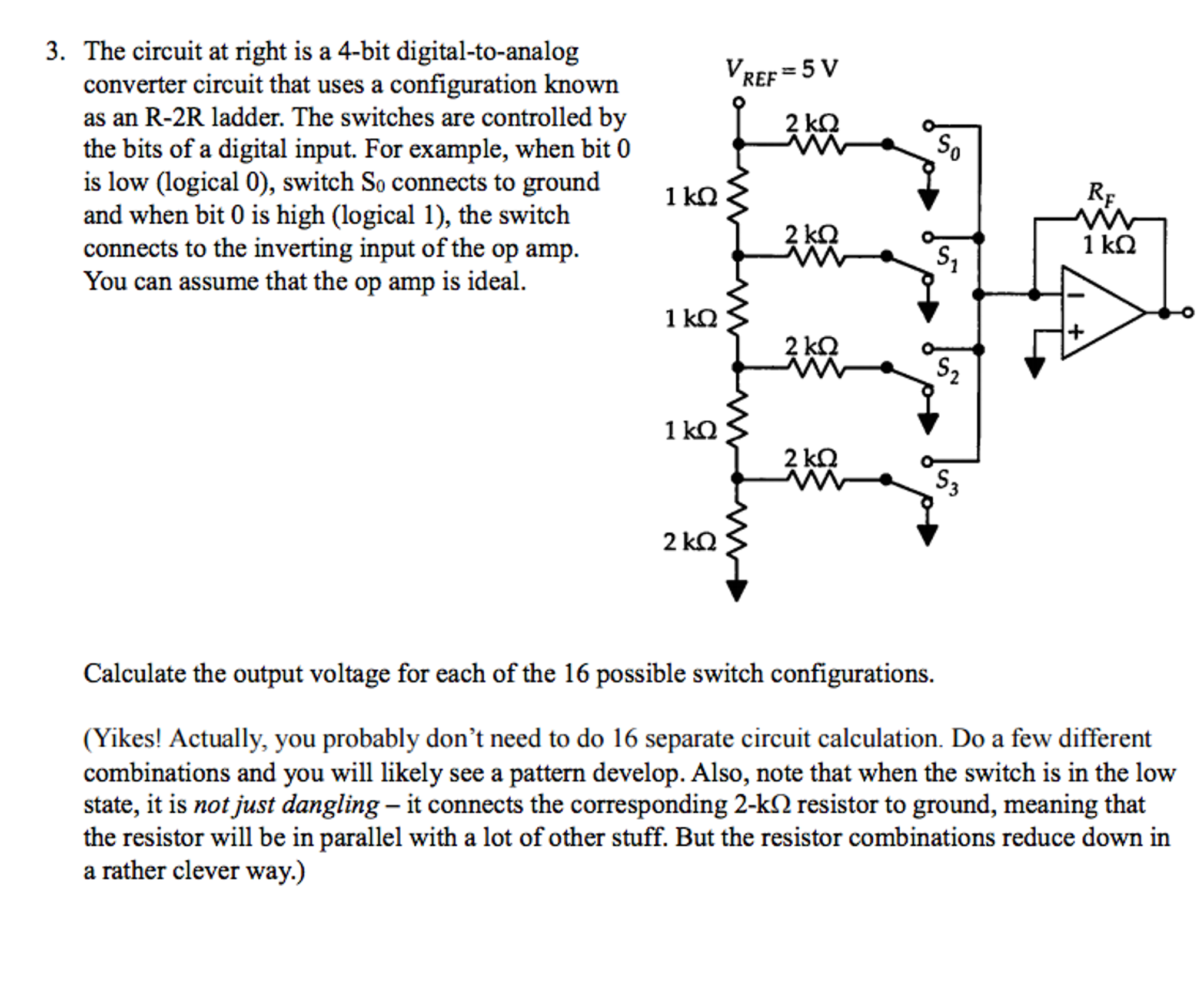 Digital To Analog Converter Circuit Conversion Monolithichybrid Converters Solved The At Right Is A 4 Bit