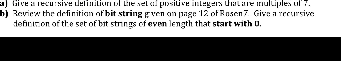 Give a recursive definition of the set of positive