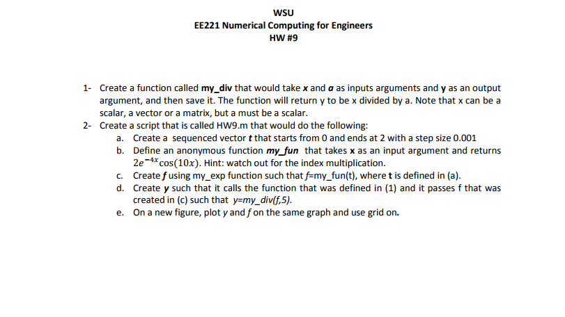 solved wsu ee221 numerical computing for engineers hw 9 rh chegg com Numerical Results Numerical Research