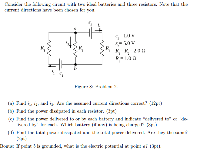 solved consider the following circuit with two ideal batt rh chegg com