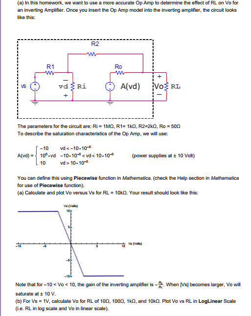 Mathematica more on op amp question calculate and chegg a in this homework we want to use a more accurate op amp ccuart Gallery