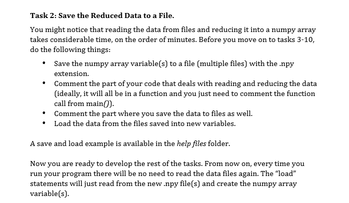 Task 2: Save The Reduced Data To A File  You Might