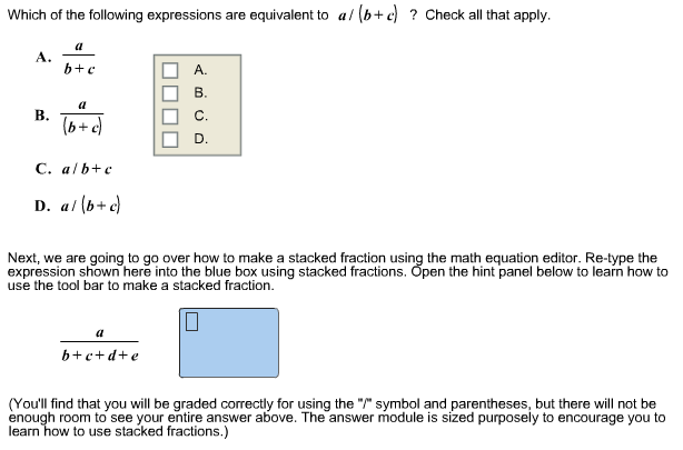 Solved Which Of The Following Expressions Are Equivalent
