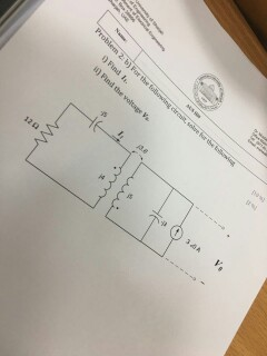 For the following circuit, solve for the following