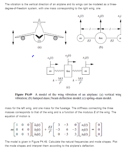 Solved: Question 4 49 In Engineering Vibrations 4th Editio