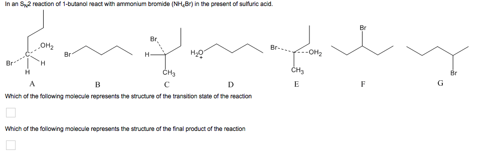 theoretical yield of 1 bromobutane in an sn2 mechanism 1to study the preparation of 1-bromobutane from 1-butanol by an sn2 reaction 2 preparation of 1-bromobutane the percent yield of 1-bromobutane.
