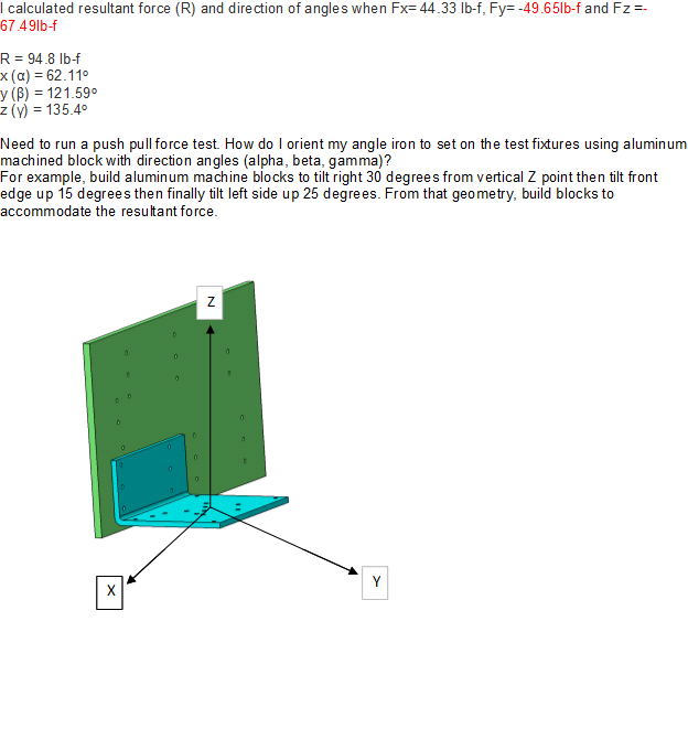L Calculated Resultant Force R And Direction Of Angles When Fx44 331b F