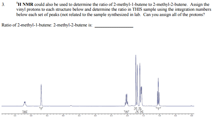 Solved 1h Nmr Could Also Be Used To Determine The Ratio O