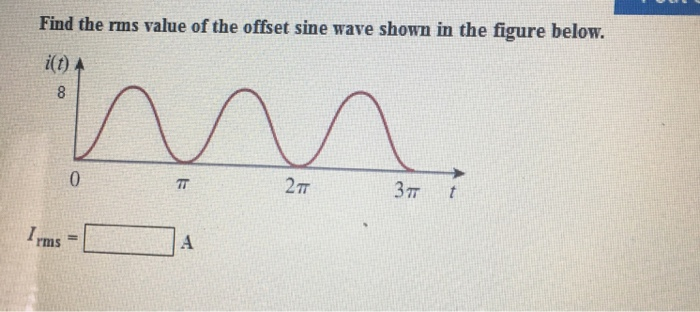 Find the rms value of the offset sine wave shown i