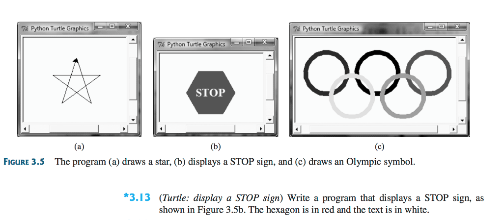 Solved Turtle Display A Stop Sign Write A Program That