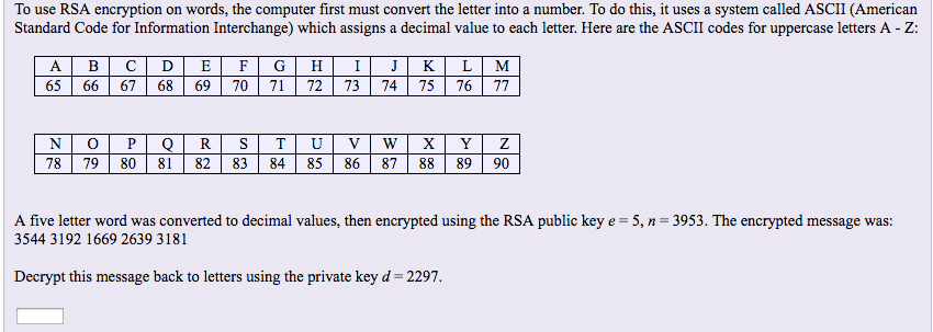 Convert Number To Letter.Solved To Use Rsa Encryption On Words The Computer First