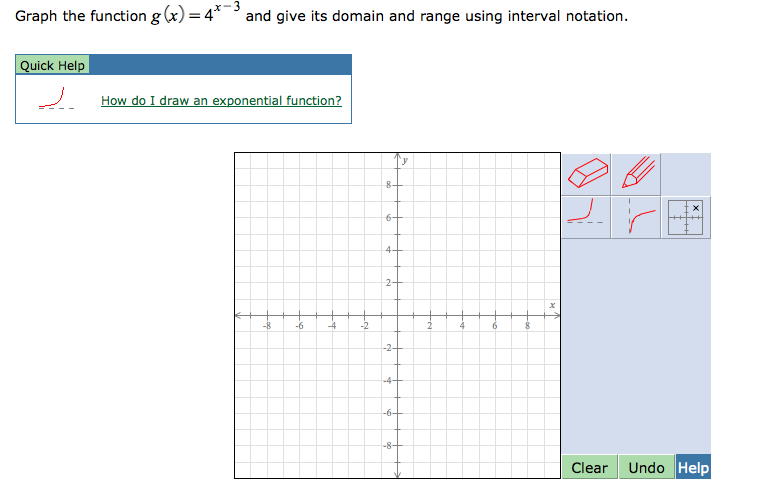 Solved graph the function gx4x 3 and give its domain image for graph the function gx4x 3 and ccuart Choice Image