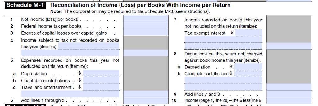 1065 calculating book income, schedules m-1 and m-3 (k1, m1, m3).