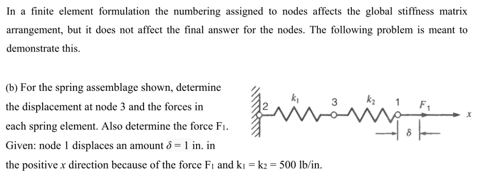 Solved: In A Finite Element Formulation The Numbering Assi