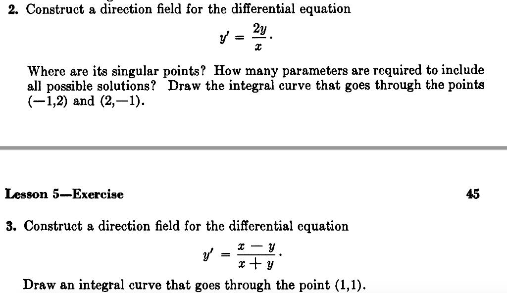 solved where 2 and 3 are found below respectively show rh chegg com Ordinary Differential Equations Logo Ordinary Differential Equations For Dummies