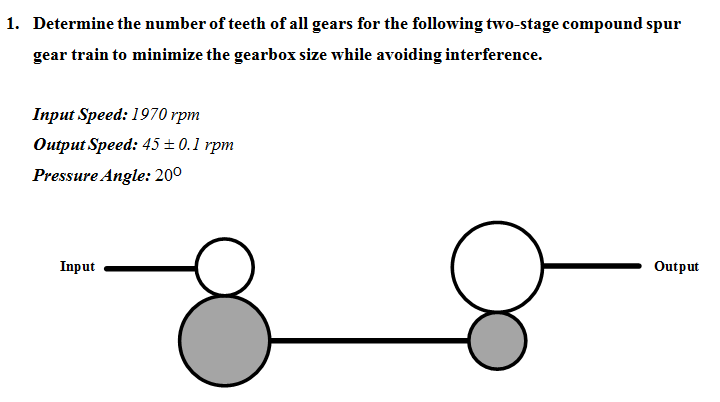 Diameter Of Gears And Length Of Shafts Are Not Rel Chegg Com