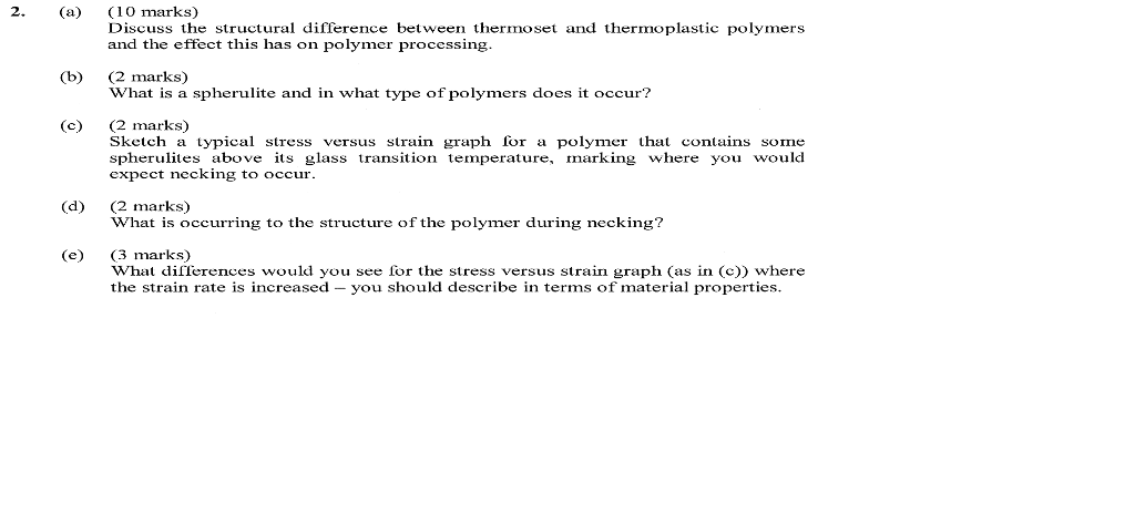 Solved: Discuss The Structural Difference Between Thermose
