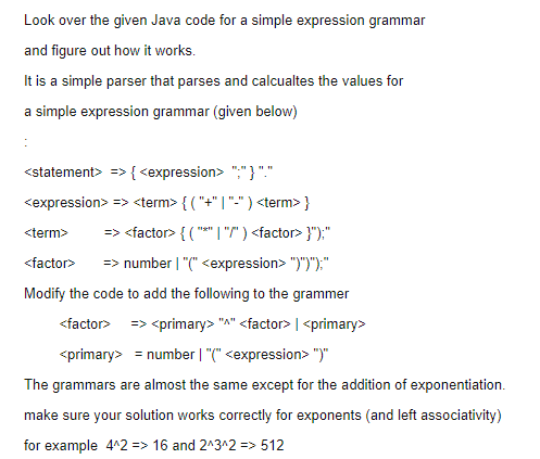 Solved Look Over The Given Java Code For A Simple Express