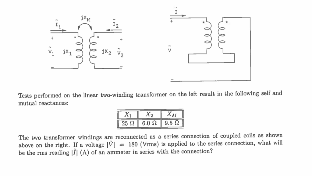 Solved: Tests Performed On The Linear Two-winding Transfor