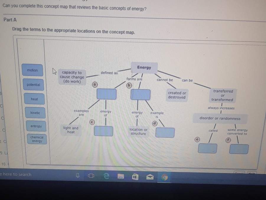 Can You Complete This Concept Map That Reviews The Basic Concepts Of Energy? Solved: Can You Complete This Concept Map That Reviews The
