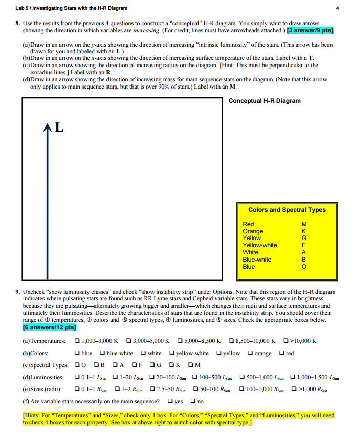 Hr Diagram Gizmo Answer Key - Atkinsjewelry