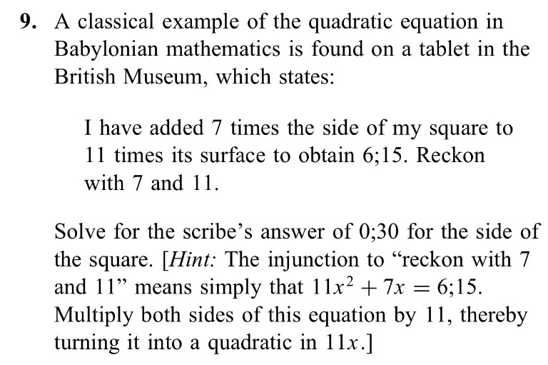 Solved: A Classical Example Of The Quadratic Equation In B ...
