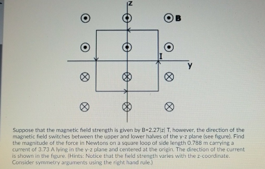 Solved Suppose That The Magnetic Field Strength Is Given
