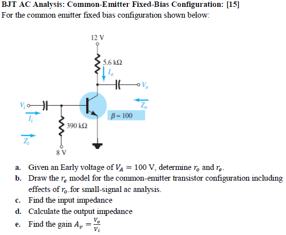 BJT AC Analysis: Common-Emitter Fixed-Bias Configu