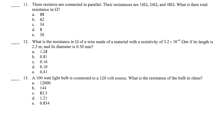 What Is The Equivalent Resistance Of The Five Resistors In Thecircuit