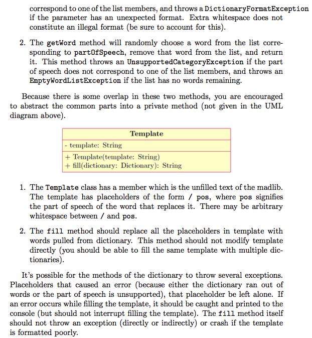 Solved: Copyable Java Text: Public Class Madlibs { Public ...