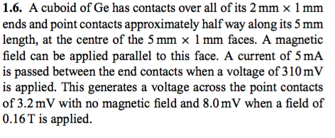 solved 1 6 a cuboid of ge has contacts over all of its 2