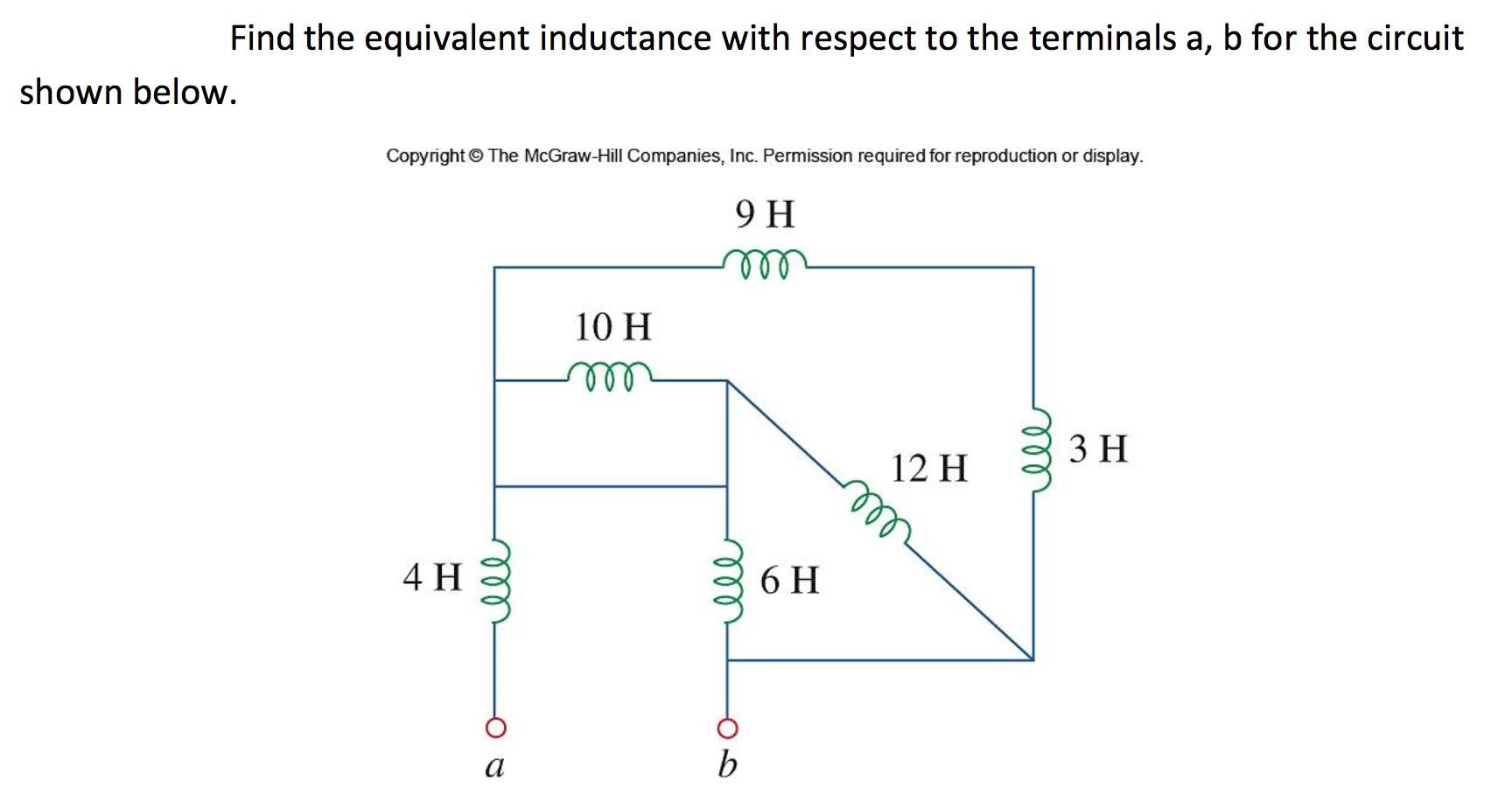 Solved Find The Equivalent Inductance With Respect To Inductor Circuit Of A Real