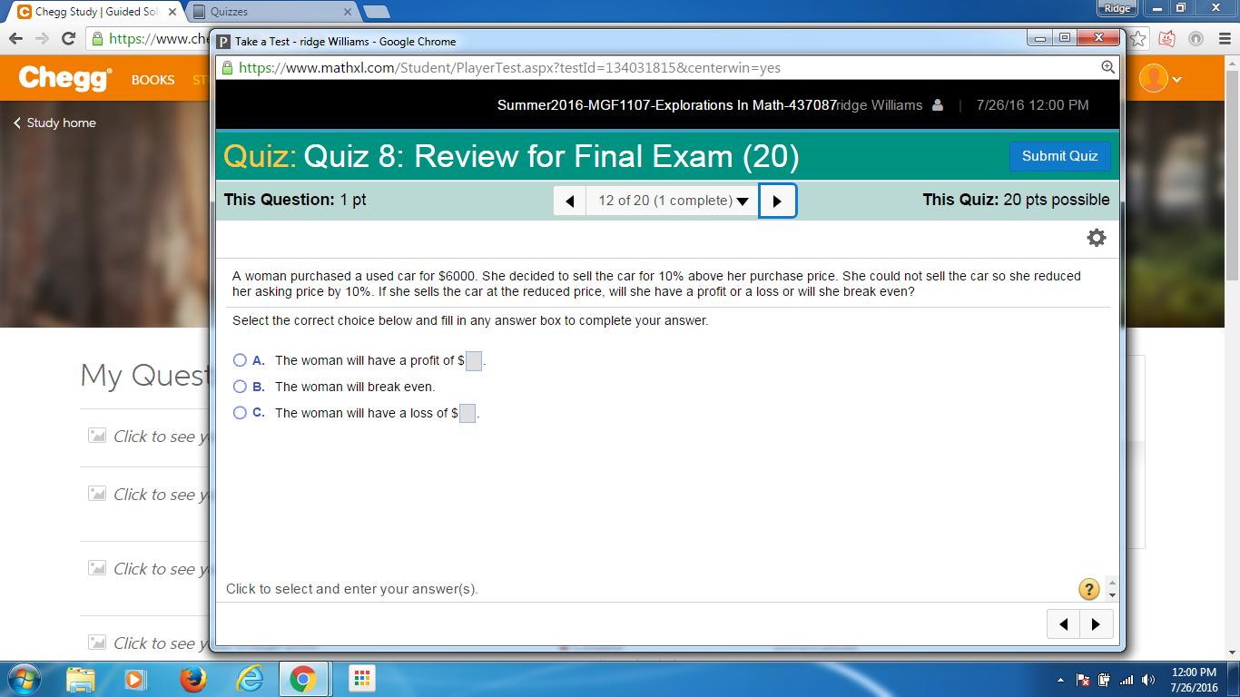 Solved: Ridge X C Chegg Study I Guided S X Quizzes C Https